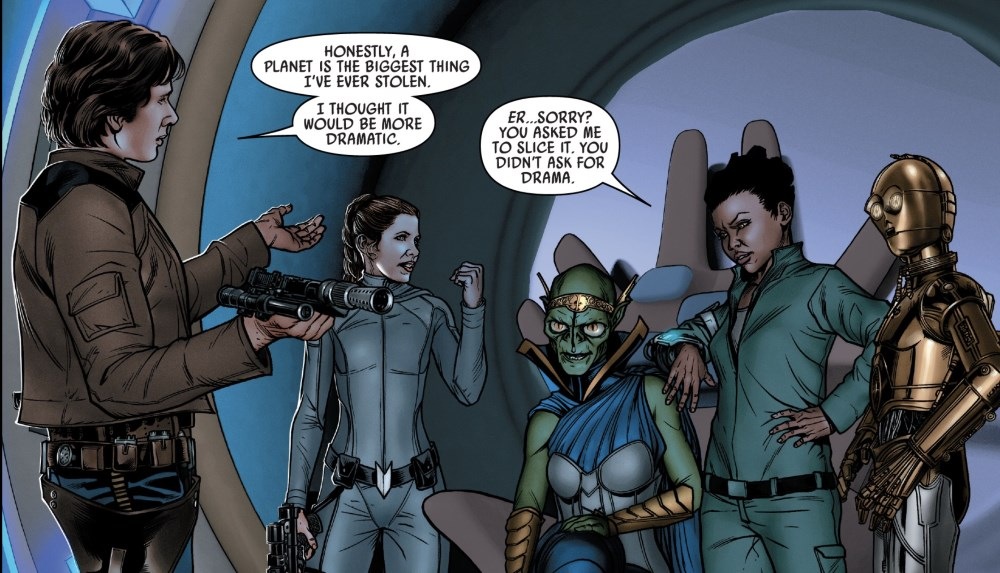 Star Wars #64 - The Rebels stealing a planet