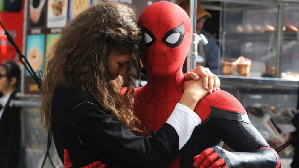 Spider-Man and MJ in Far From Home