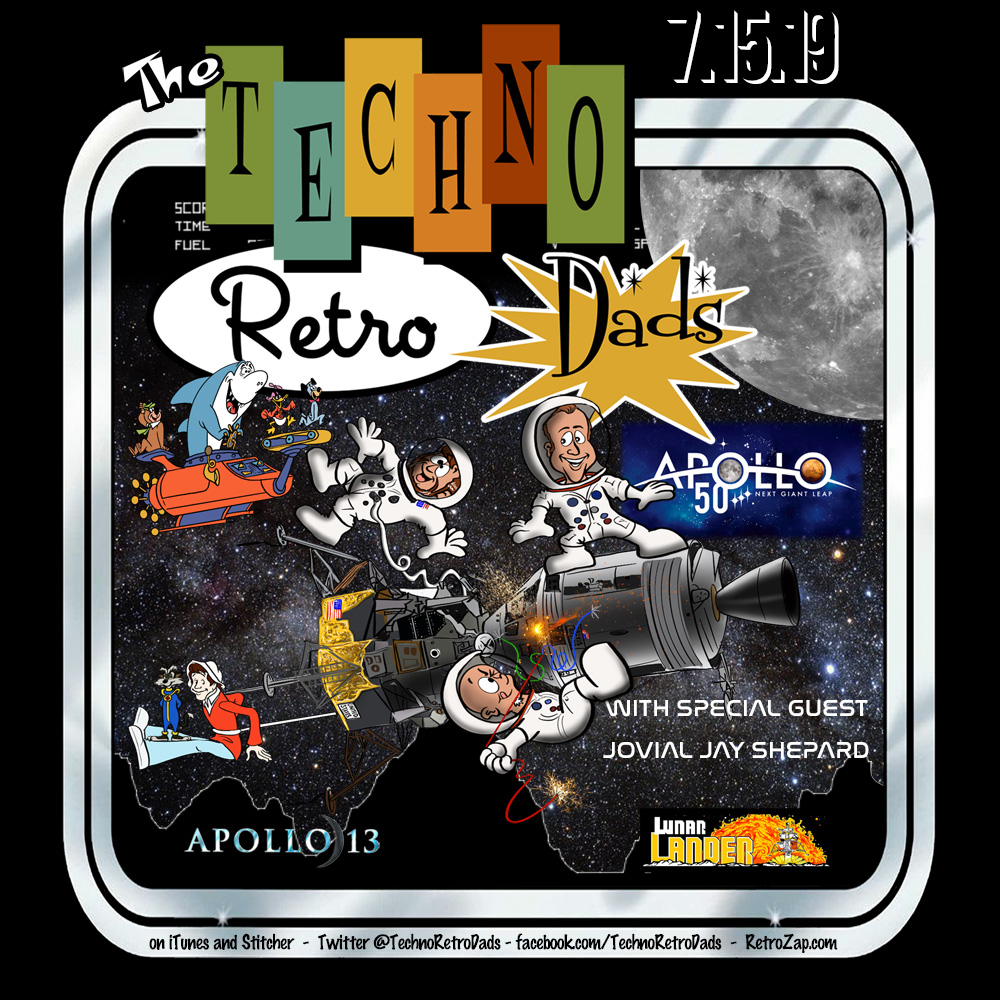 TechnoRetro Dads Moon Landing