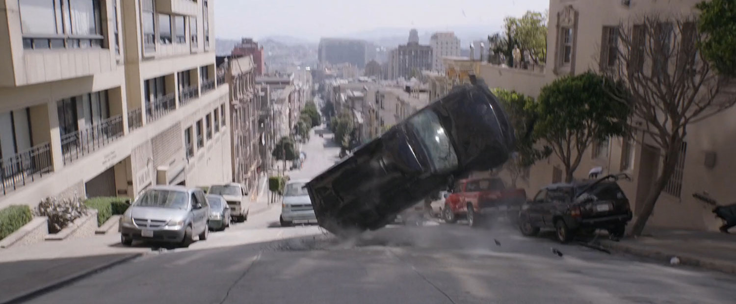 San Francisco SUV Flip