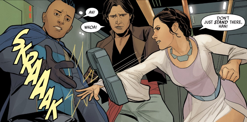 Star Wars #71 - Leia, Han, and Dar Champion