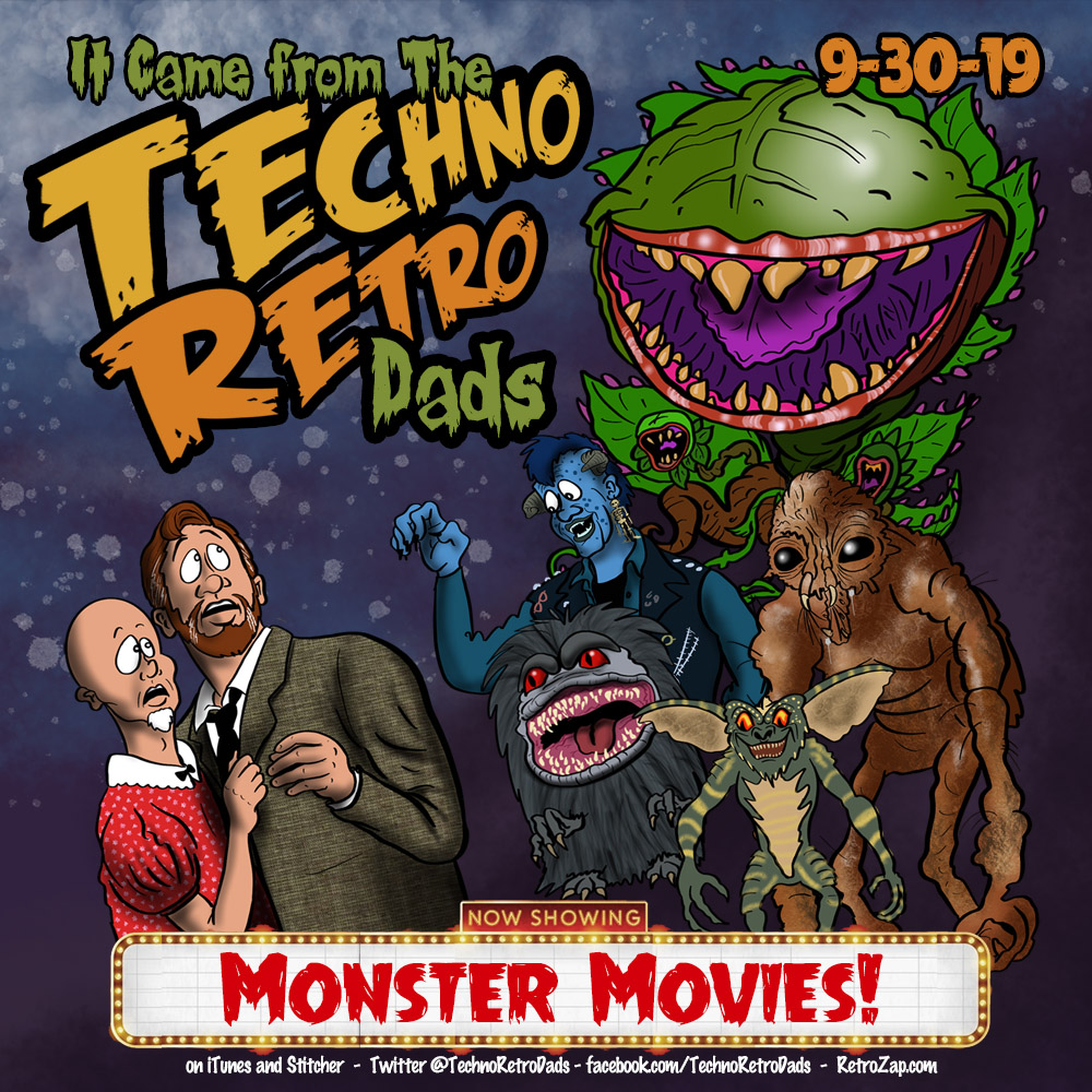 TechnoRetro Dads Monster Movies