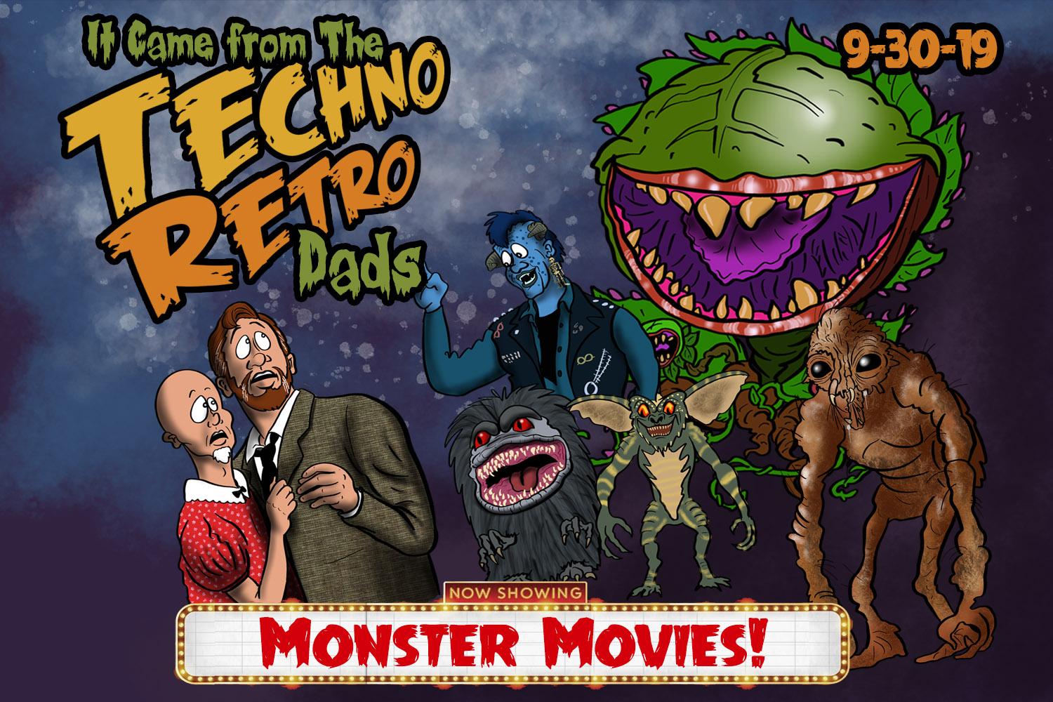 TechnoRetro Dads 80s Monster Movies