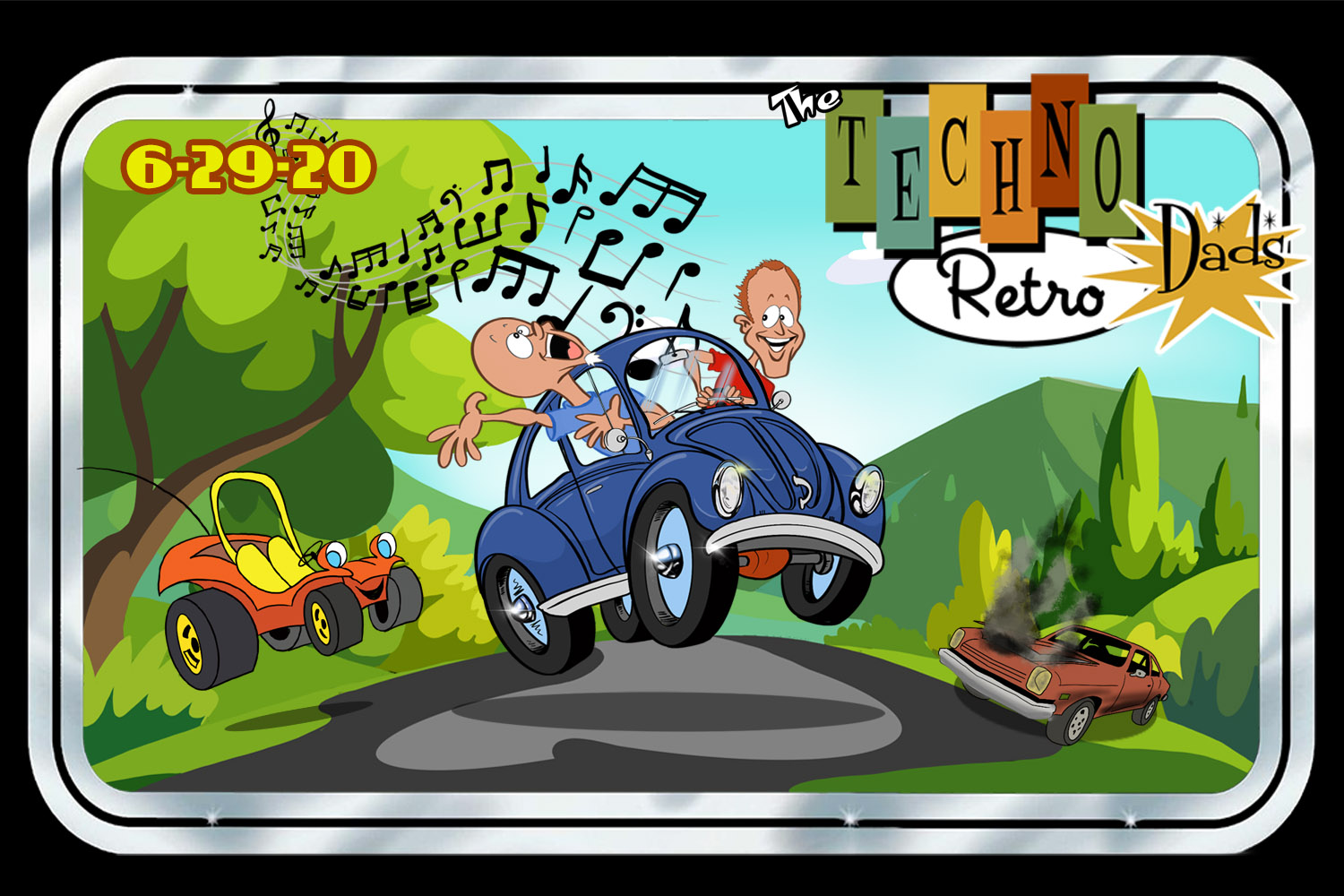 TechnoRetro Dads - Riding in our First Speed Buggies, crankin' the FM
