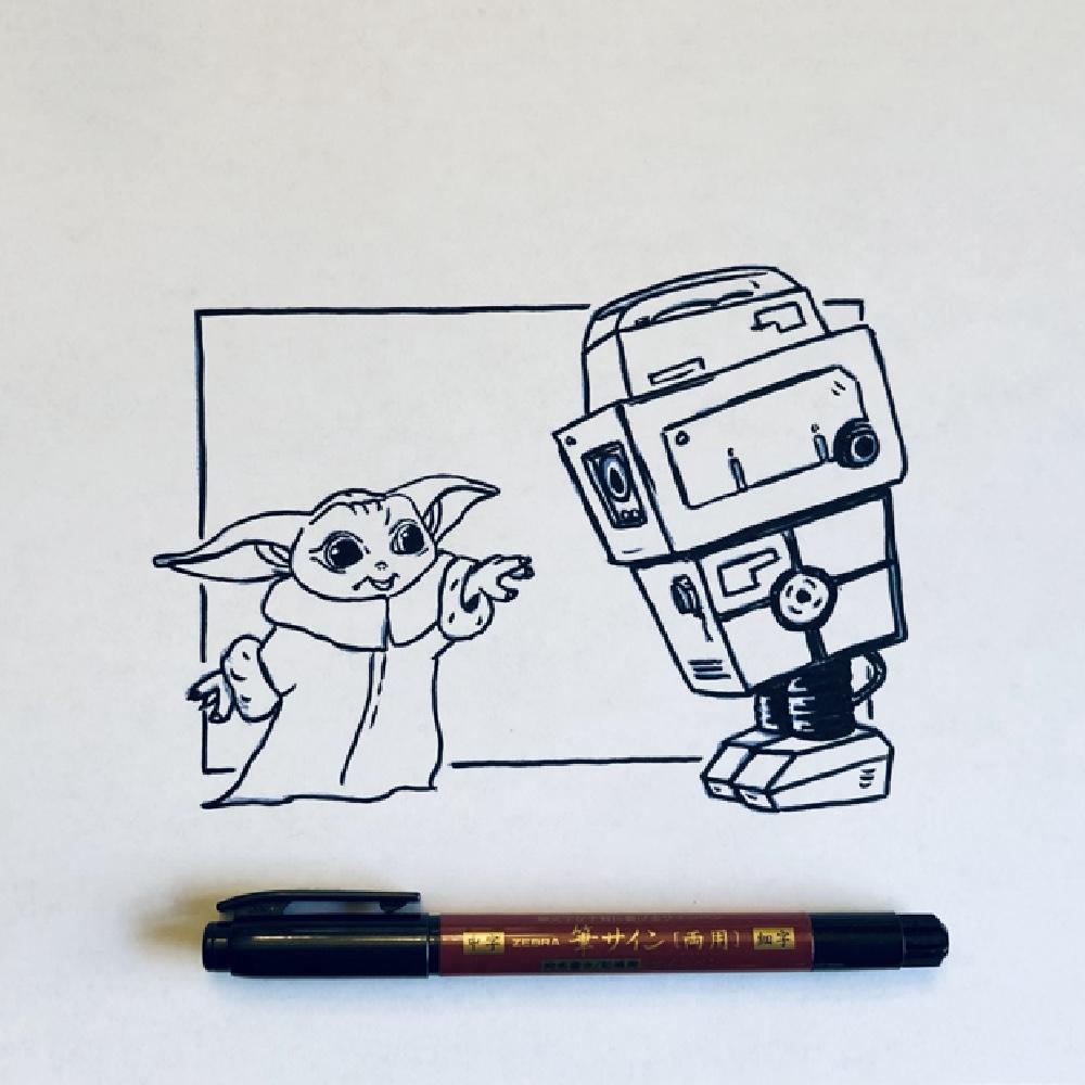 Baby Yoda and Gonk