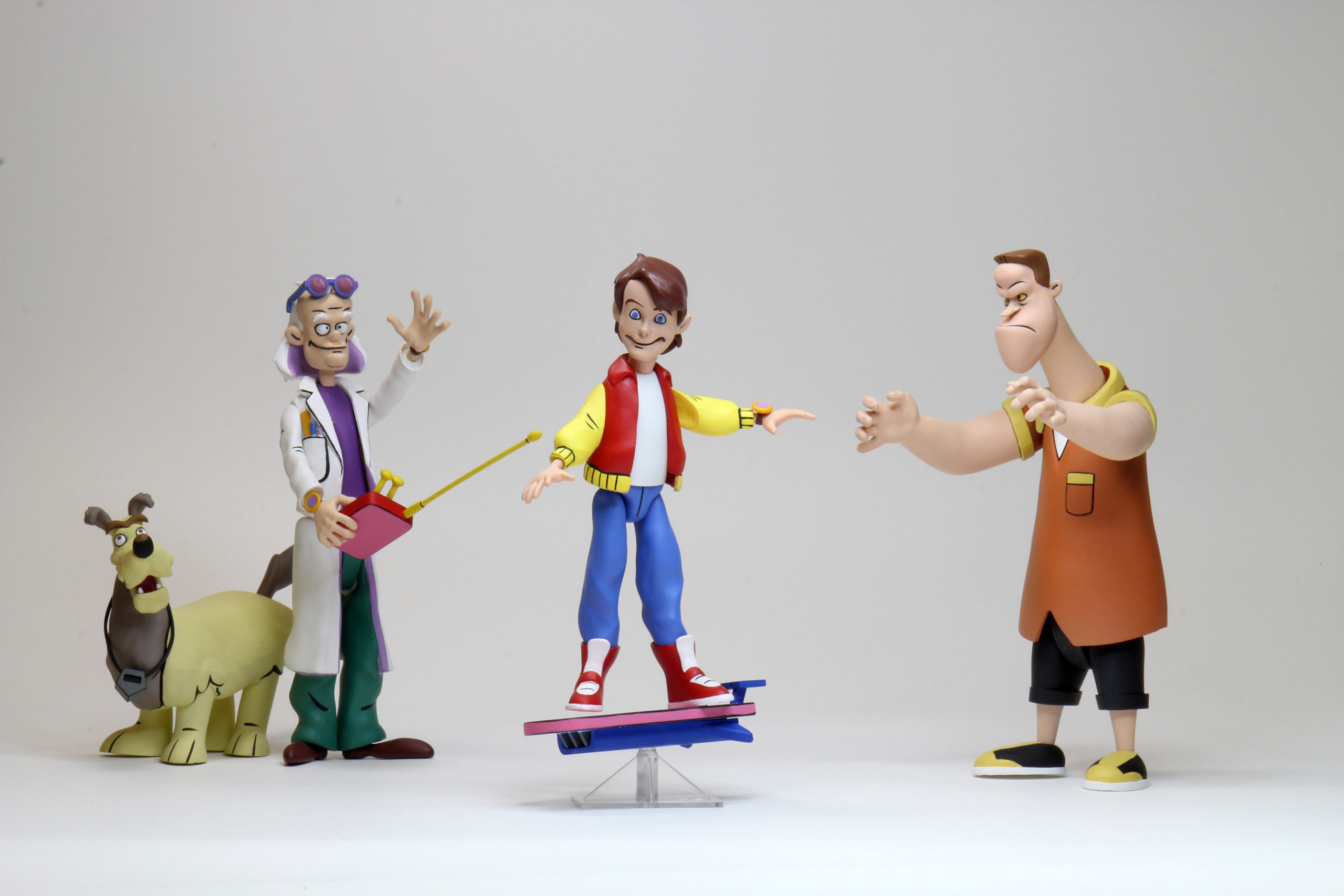 Back to the Future stylized figures