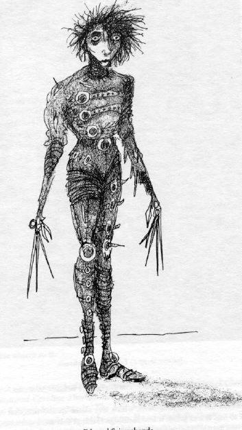 Edward Scissorhands Burton Concept Art
