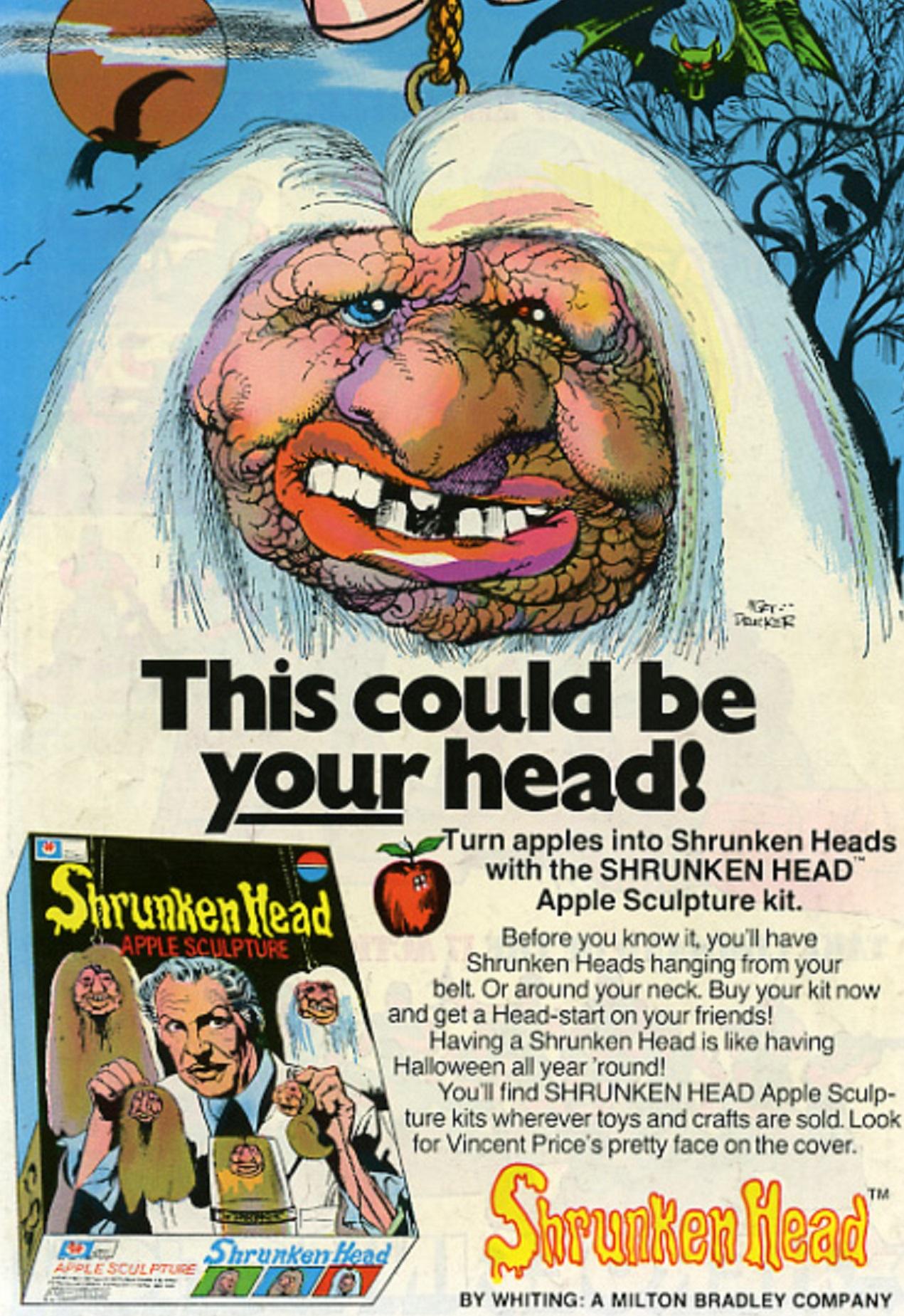 Vincent Price's Shrunken Head Kit Mort Drucker art