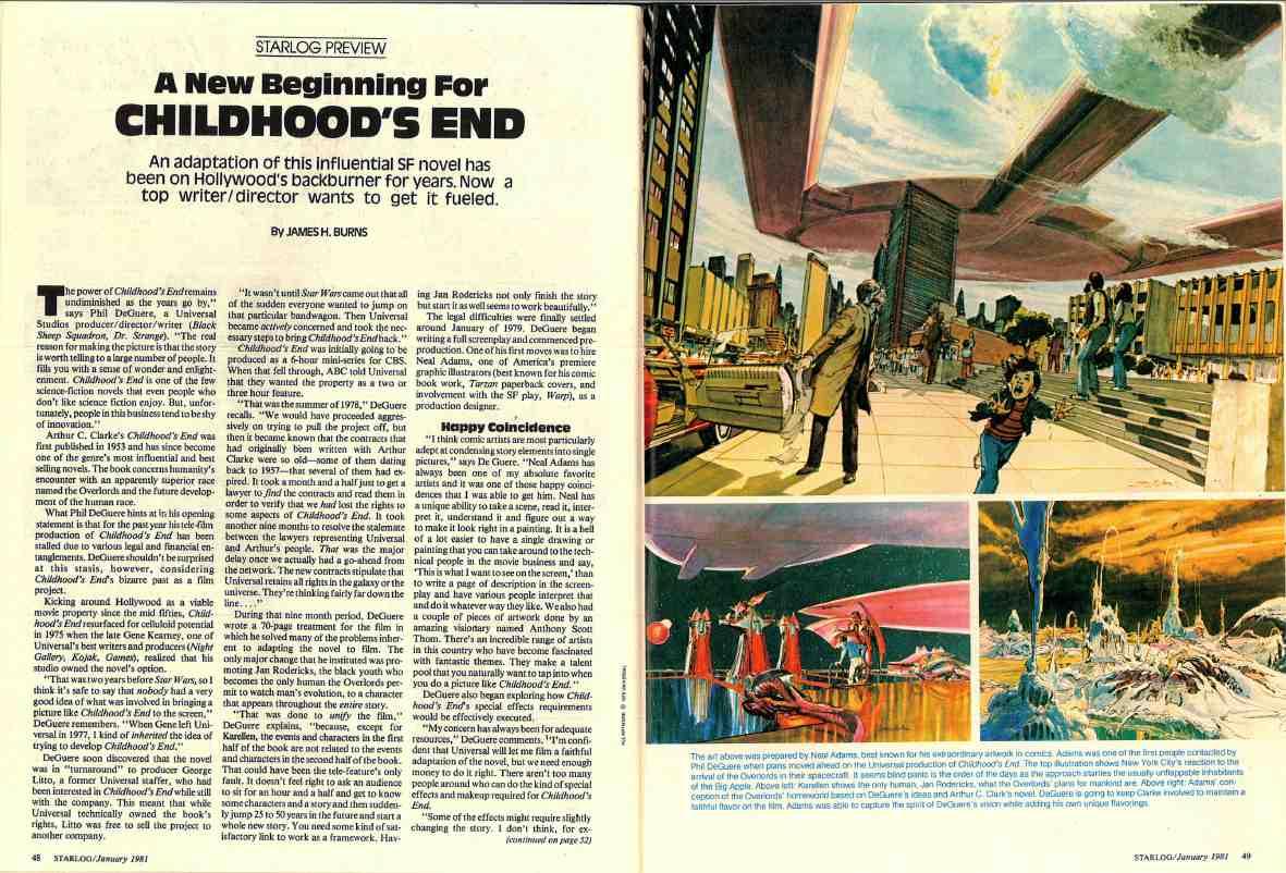 Starlog 42 Childhood's End