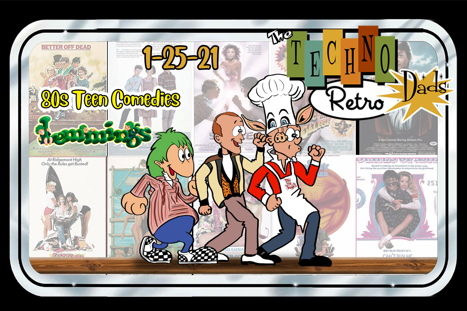 TechnoRetro Dads: Jumping Off Cliffs with 80s Teen Comedies