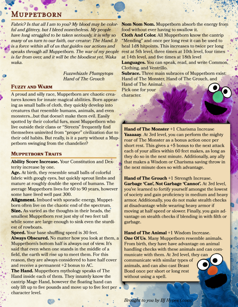 Dungeons and Dragons Muppets