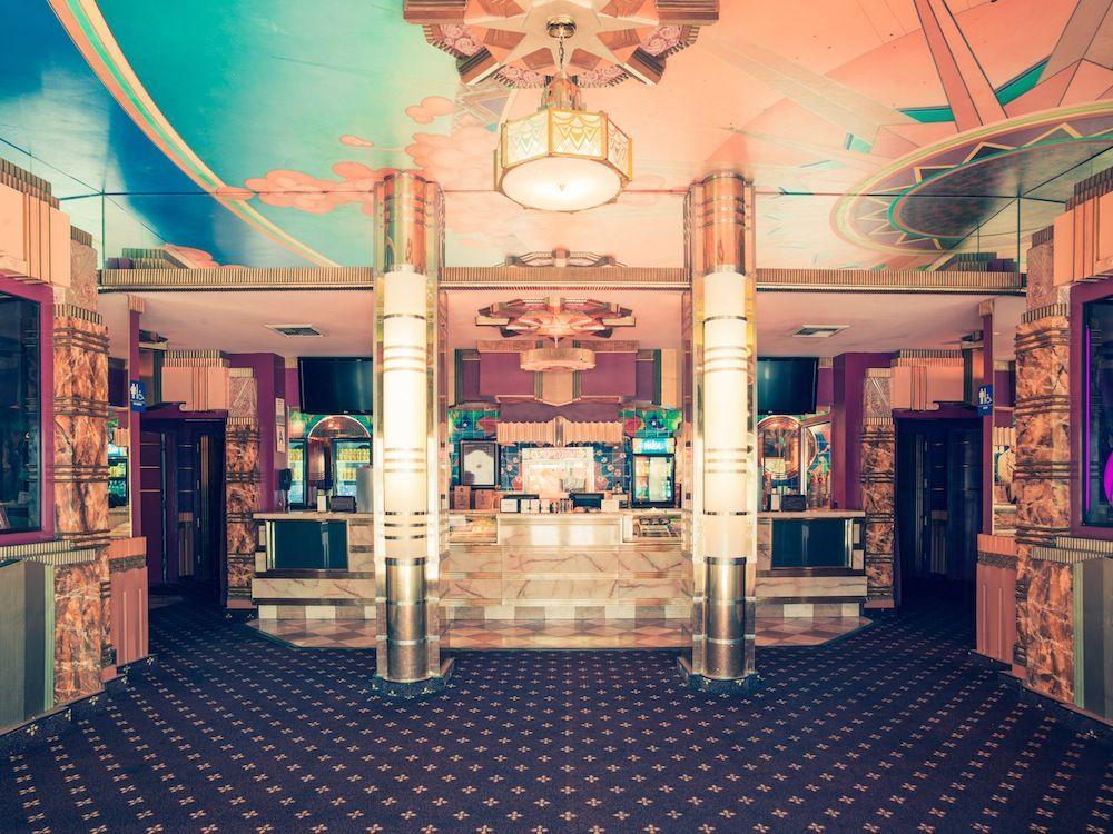 Retro Movie Theater Lobby