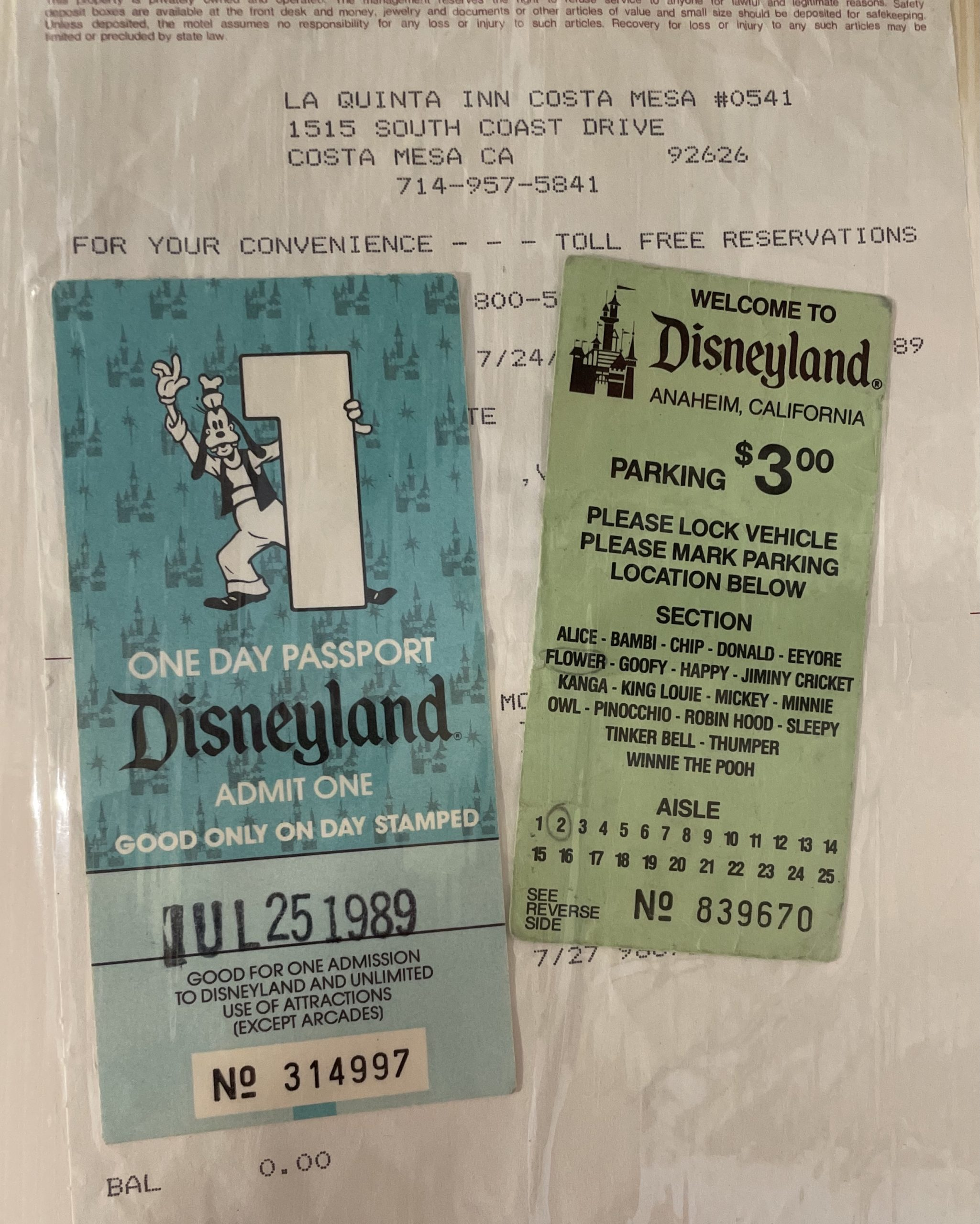 Shua's Old Tickets